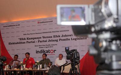 Laporan Efek Kampanye Versus Efek Jokowi: Elektabilitas Partai-Partai Jelang Pemilu Legislatif 2014