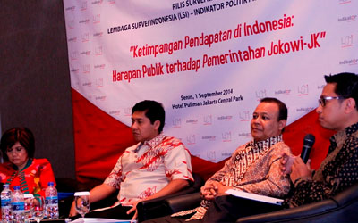 "Laporan Rilis Survei Nasional ""KESENJANGAN PENDAPATAN: Harapan Publik terhadap Pemerintahan Jokowi-JK"""