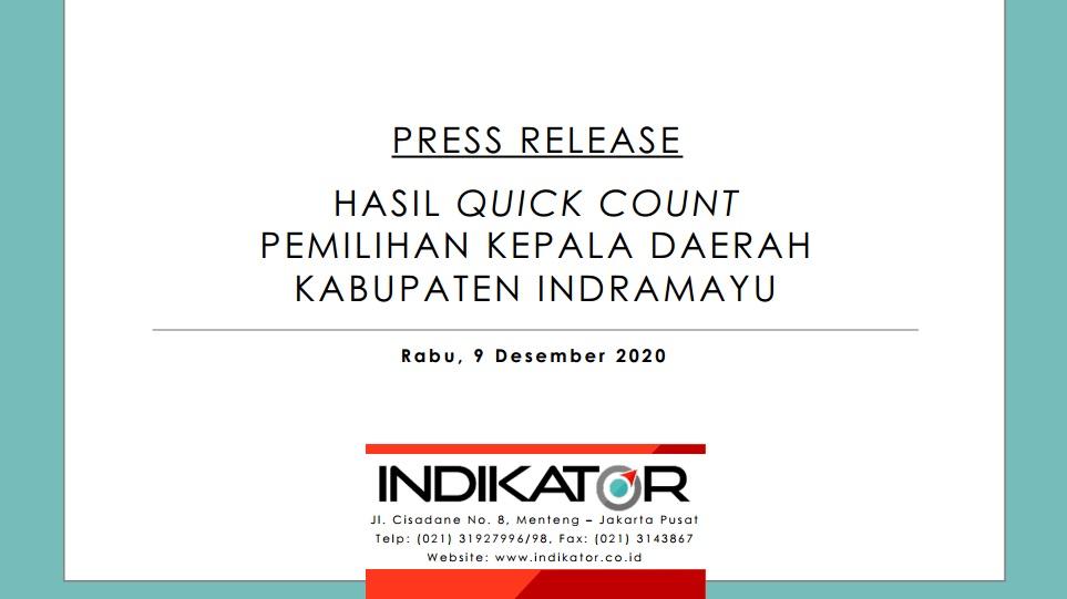 Hasil Quick Count Pilkada Kab. Indramayu